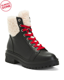 Waterproof Cozy Lined Leather Hiker Boots