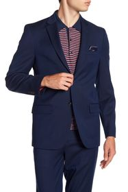 Ben Sherman Blue Birdseye Two Button Notch Lapel S