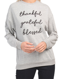 Bleesed Drop Shoulder Fleece Sweatshirt