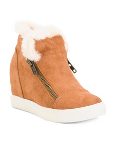 Cozy Lined Wedge Sneakers