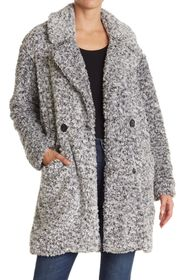 Lucky Brand Frosted Faux Shearling Fleece Coat