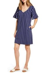 Tommy Bahama Vista Stripe Flutter Sleeve Dress