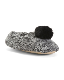 Sherpa Lined Slippers With Mask Gift Set