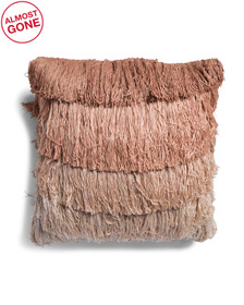 22x22 Multicolor Fringe Pillow