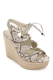 Rampage Fina Ghillie Lace Espadrille Wedge
