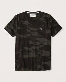 Camo Icon Crew Tee, DARK OLIVE GREEN CAMO