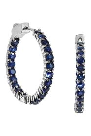 Savvy Cie Sterling Silver Sapphire Inside Out 30mm