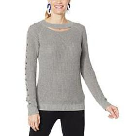 """As Is"" Brittany Humble Cable Sleeve Keyhole Sweat"