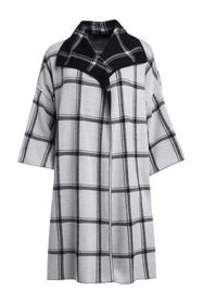 alice + olivia Ester Reversible Plaid Coat