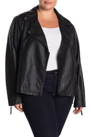 Max Studio Faux Leather Moto Jacket