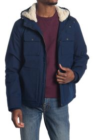 Levi's Hooded Woodsman Faux Shearling Jacket