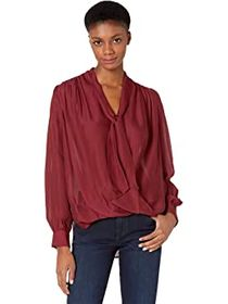 7 For All Mankind Tie Neck Blouse