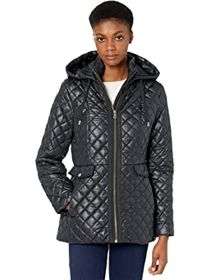 Kate Spade New York Quilted Short Jacket w/ Hood