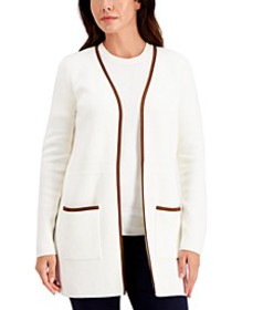 Milano Cotton Open-Front Cardigan, Created for Mac