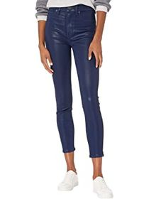 7 For All Mankind High-Waist Ankle Skinny Coated i