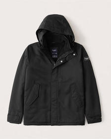 A&F Tech Jacket, BLACK