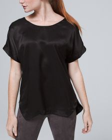 Woven-Front Tee