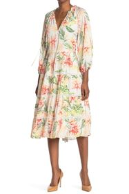 alice + olivia Layla Printed Tiered Dress