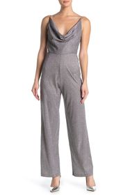 bebe Chain Strap Metallic Jumpsuit