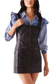 Free People Johnny Faux Leather Minidress