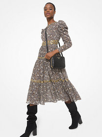 Michael Kors Embellished Paisley Cotton Lawn Puff-