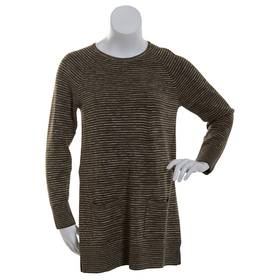 Womens Eight Eight Eight Space Dye Crew Neck Tunic