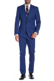 Kenneth Cole Reaction Bright Blue Solid Two Button