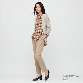 Women Flannel Checked Long-Sleeve Shirt, Pink, Med