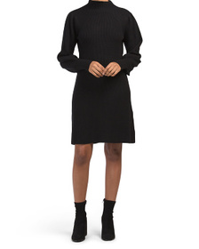 Funnel Neck Fit And Flare Dress