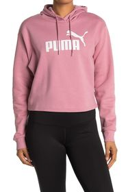 PUMA Elevated Logo Cropped Hoodie