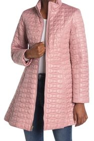kate spade new york a-line bow quilted coat