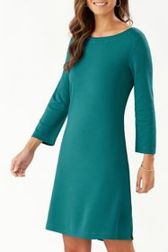 Tommy Bahama Drapey Ponte 3/4-Sleeve Dress