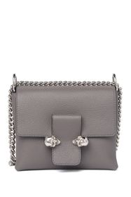Alexander McQueen Twin Skull Small Leather Chain C