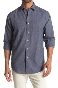 Cole Haan Linen Blend Long Sleeve Sport Shirt