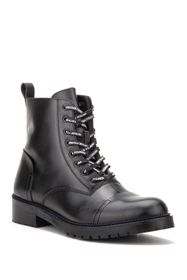 Vintage Foundry Onyx Leather Lace-Up Boot