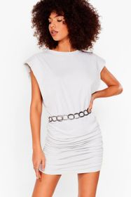Nasty Gal Sage Power of Love Ruched Mini Dress
