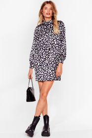 Nasty Gal Grey Smock It Outta the Park Animal Mini
