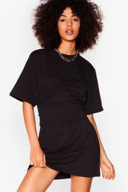 Nasty Gal Black Corset the Stage Mini Sweater Dres