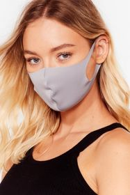 Nasty Gal Grey To My Face Fashion Face Mask