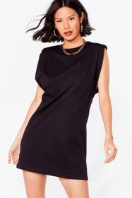 Nasty Gal Black Chip on Your Shoulder Jersey Mini