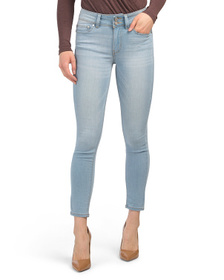 Juniors 2 Button High Waist Skinny Jeans
