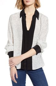 7 For All Mankind Minimal Contrast Print Top