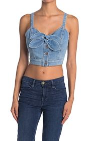 7 For All Mankind Dual Bow Denim Tank