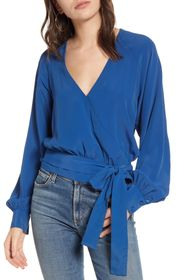 7 For All Mankind Wrap Tie Top