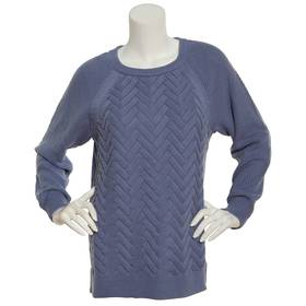 Womens Hasting & Smith Cable Knit Pullover Sweater