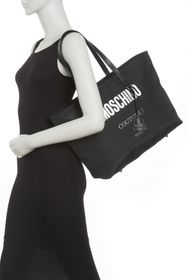MOSCHINO Signature Brand Logo Tote Bag