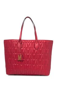 MOSCHINO Brand Logo Quilted Tote Bag
