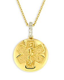 Bloomingdale's - Diamond Accent Medical Pendant Ne