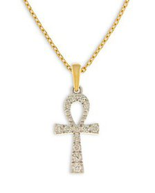 Bloomingdale's - Diamond Ahnk Pendant Necklace in
