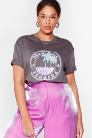 Nasty Gal Charcoal Welcome to Miami Beach Plus Gra